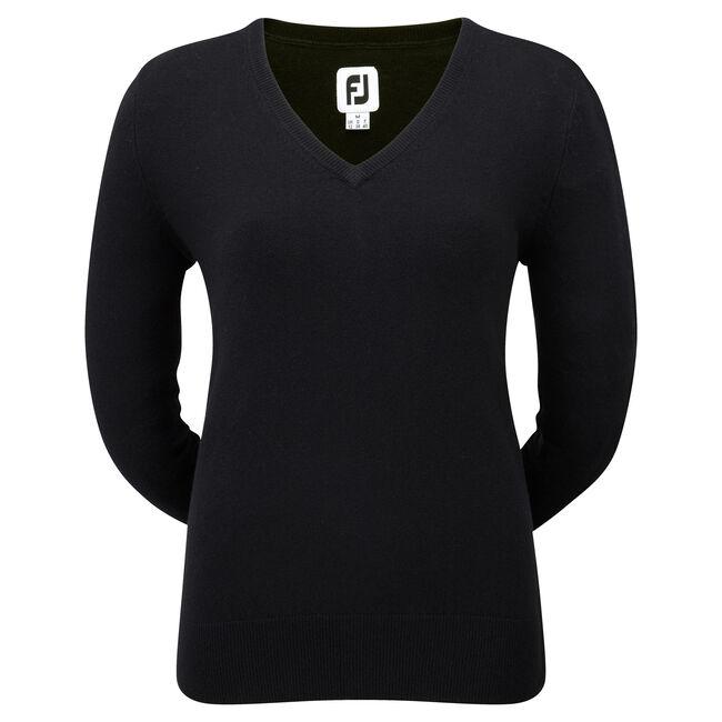 Lambswool V-Neck Pullover Femmes-Modèle de l'année Précédente