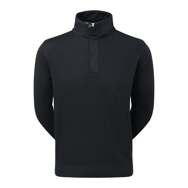 Spun Poly Buttoned Pullover-Modèle de l'année Précédente