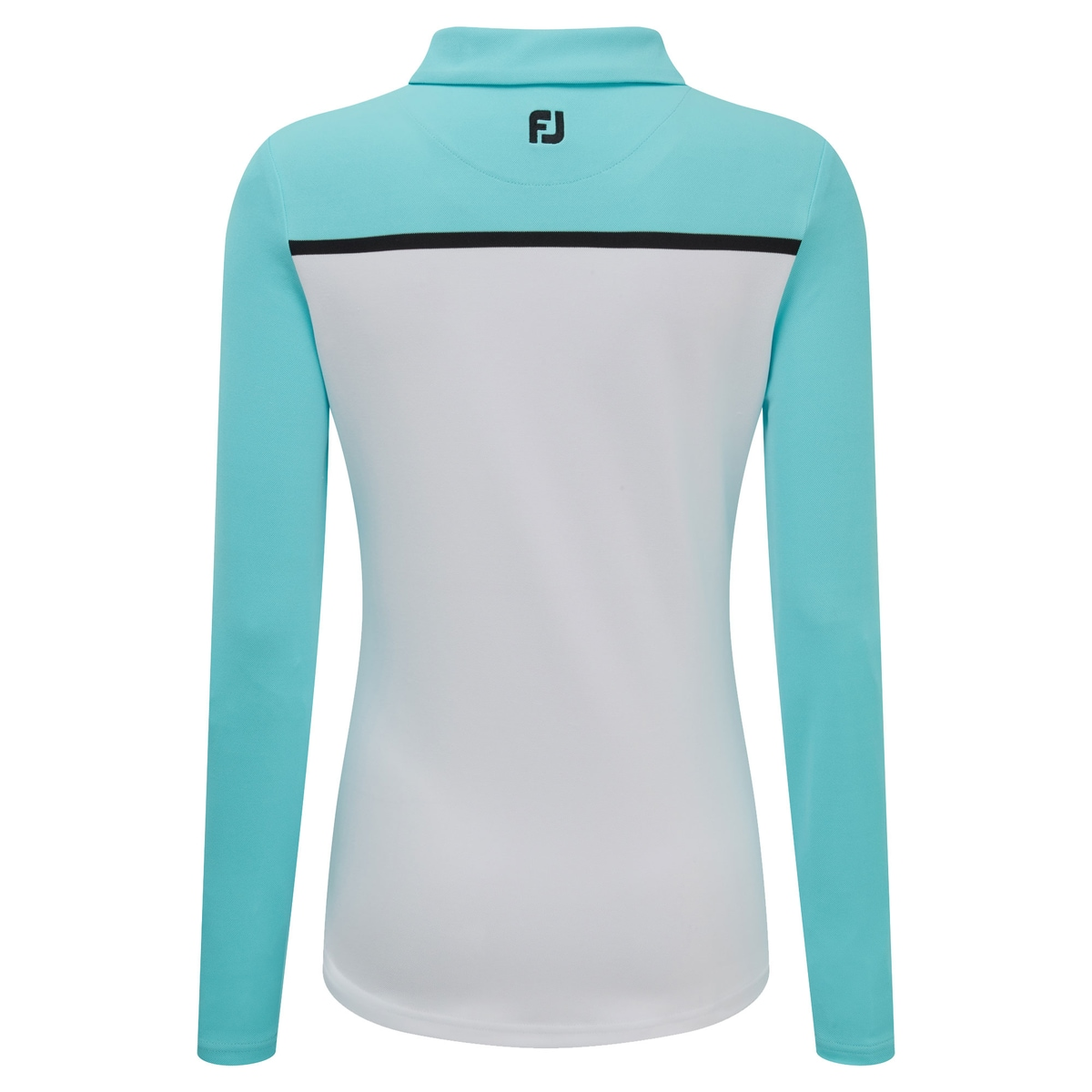 Smooth Pique Long Sleeved Colour Block Dam