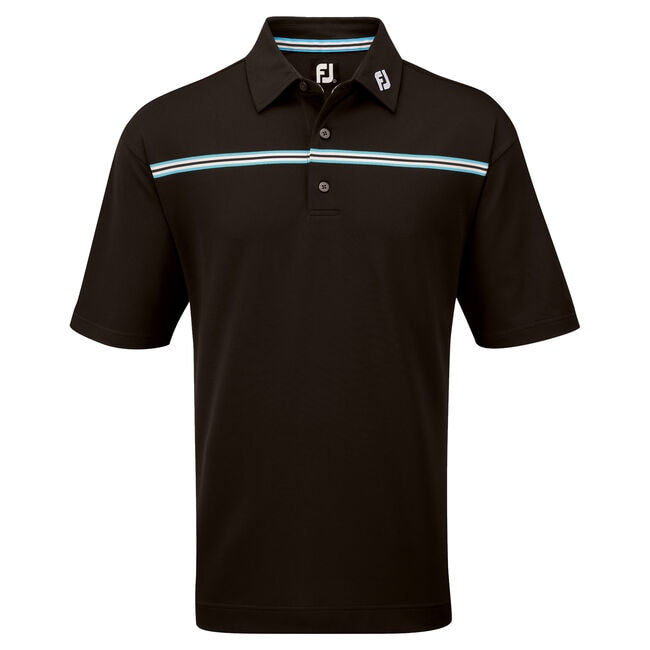 Stretch Pique Chest Stripe with Self Collar