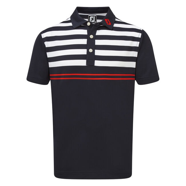 Smooth Pique with Graphic Stripes Junior