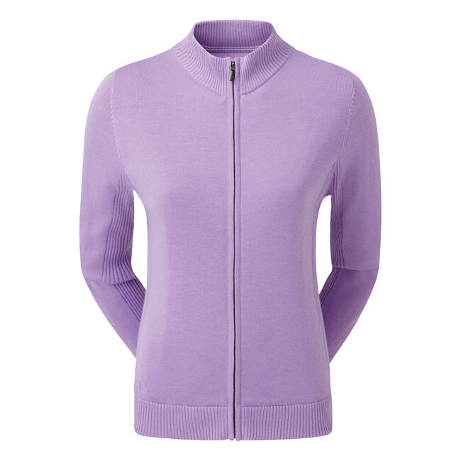 Full-Zip Lined Wool Blend Pullover