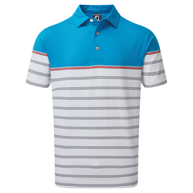 Stretch lisle Colour Block Stripe