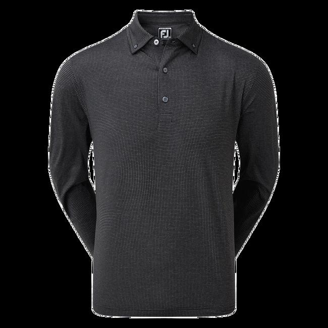 Polo Chemise stretch à manches longues avec imprimé pied-de-poule