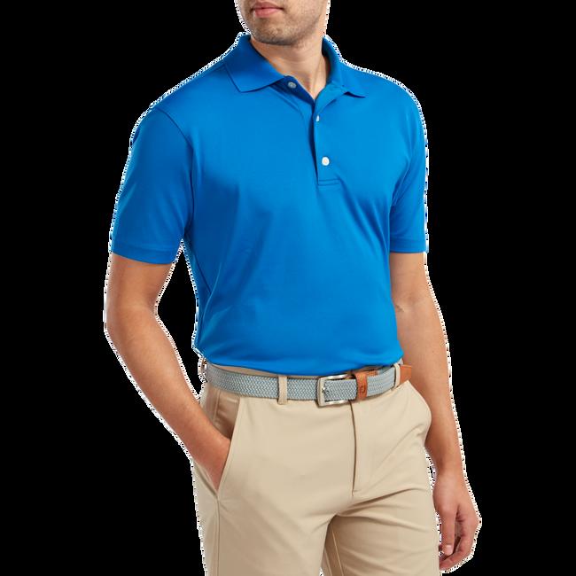 Stretch Pique Solid Rib Knit Collar