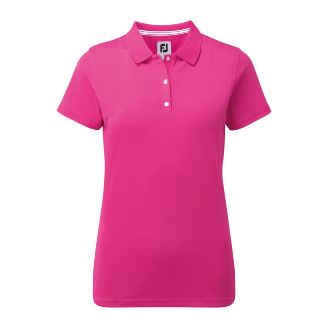 Stretch Pique Solid Shirts Women