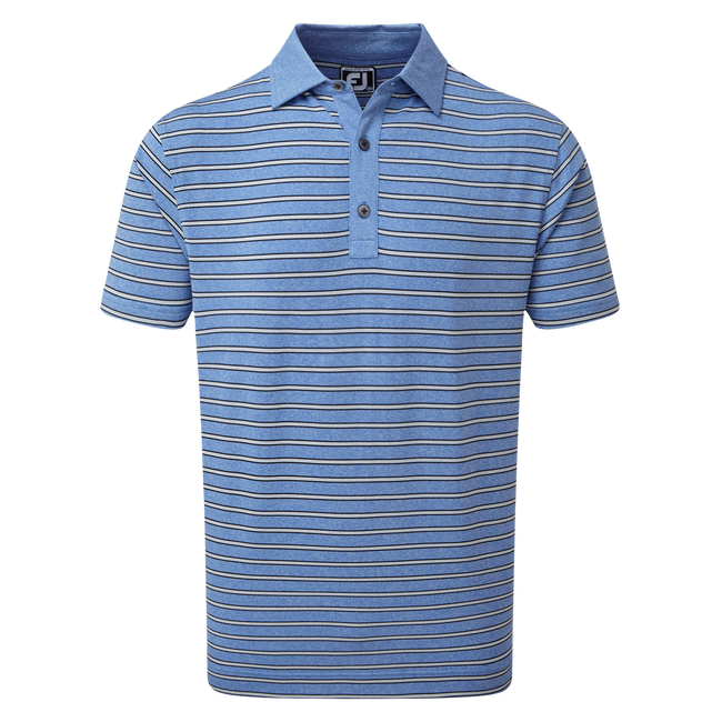 Polo Heather Lisle with Stripes