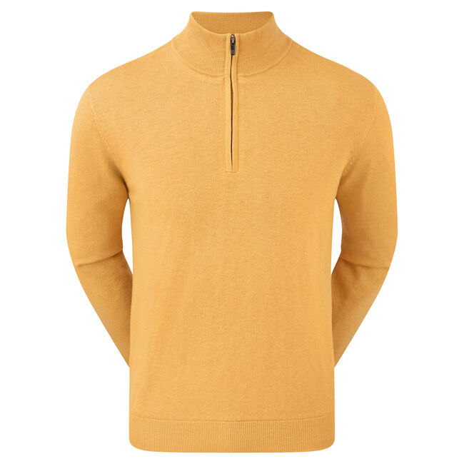 Lambswool Half Zip Lined Pullover-Previous Season Style