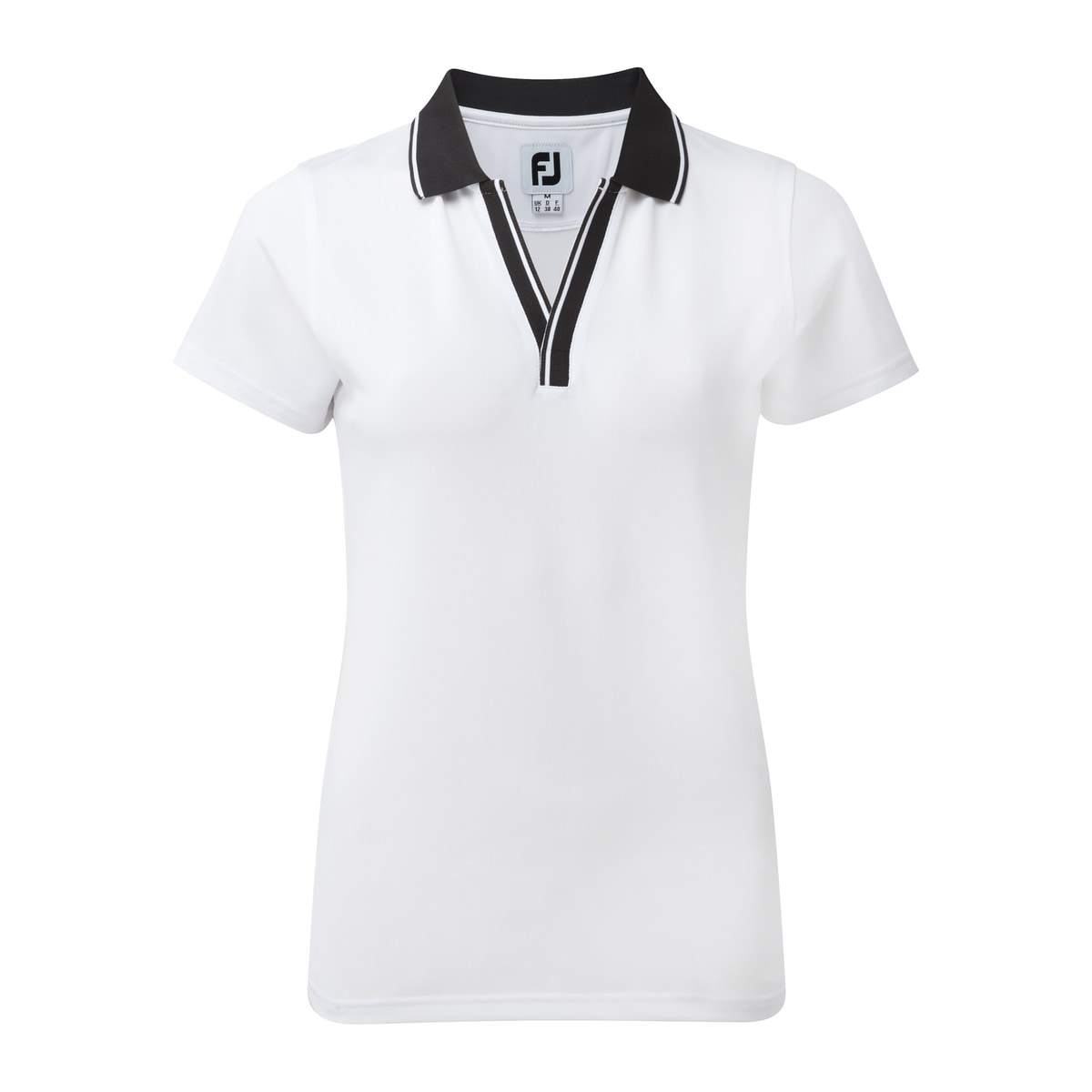 Stretch Pique Open V-Neck Dam-Förra året Modell