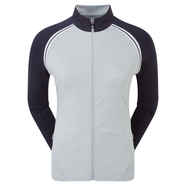 French Terry Full Zip Colour Block Women-Previous Season Style