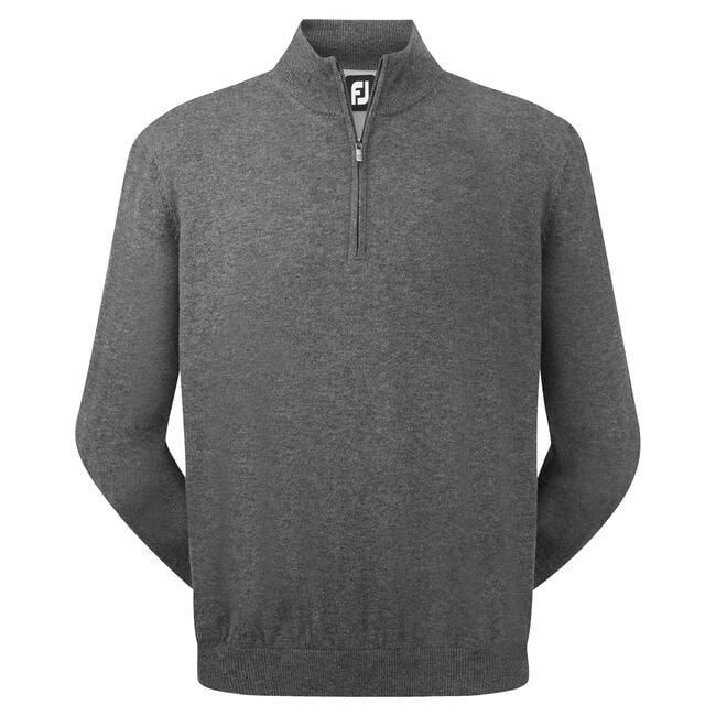 Lambswool Half Zip Lined Pullover-Förra året Modell