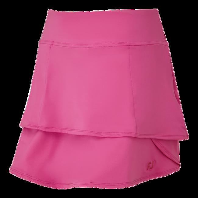 Jupe-short superposée en jersey léger pour femme