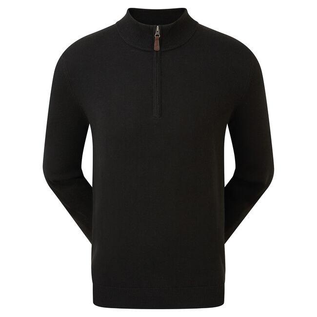 Wool Blend Half-Zip Pullover