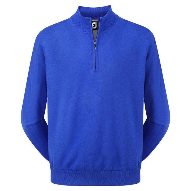 Lambswool Half Zip Pullover-Previous Season Style