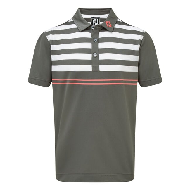 Stretch Pique with Graphic Stripes